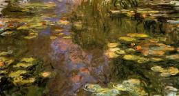 Water Lily Pond, Eveningright panelClaude Monet WikiArt org 1850
