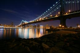 Описание Manhattan Bridge at Night JPG 1784