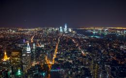 New York Manhattan At Night HD wallpaper 1784
