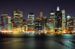 Night in Manhattan, amazing, architecture, background, brooklyn 1466