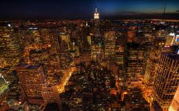 new york city night lights yellow hd wallpaper 1438