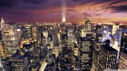Manhattan Aerial View At Night Wallpaper 1920x1080 Manhattan, Aerial 1434