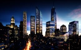 Download Manhattan in night High quality wallpaper 899