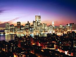 Fond d\'ecran Manhattan by nightWallpaper 1590