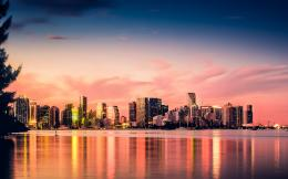 Miami Skyline Sunset Free Wallpaper downloadDownload Free Miami 1976