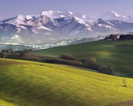 Similar wallpapers for Wide view of Farms On Mountain Meadow 1157