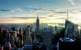 early morning new york city skyline empire state 1920x1200 55 wide 1202