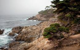 Rugged Rocky Misty Seashore wallpaper 249