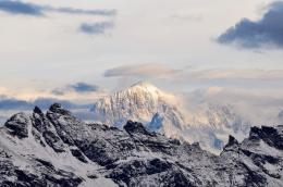 Wallpaper Sunrise, Ski, Nature, Landscape, Montblanc, France, Alps 1510