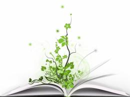 Tree grows from a book vector wallpaper 552
