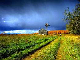 Download Beautiful farm house & windmill wallpaper in CityWorld 1983