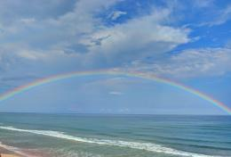 rainbow emerges just after a storm in Surf City North Carolina 794