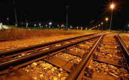 Railroad tracks at night wallpaperUnsortedOtherWallpaper 347