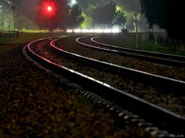 PanoramioPhoto of Adelaide Railway Track reflections on a wet night 715