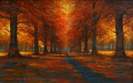 Red Autumn Trees 1038