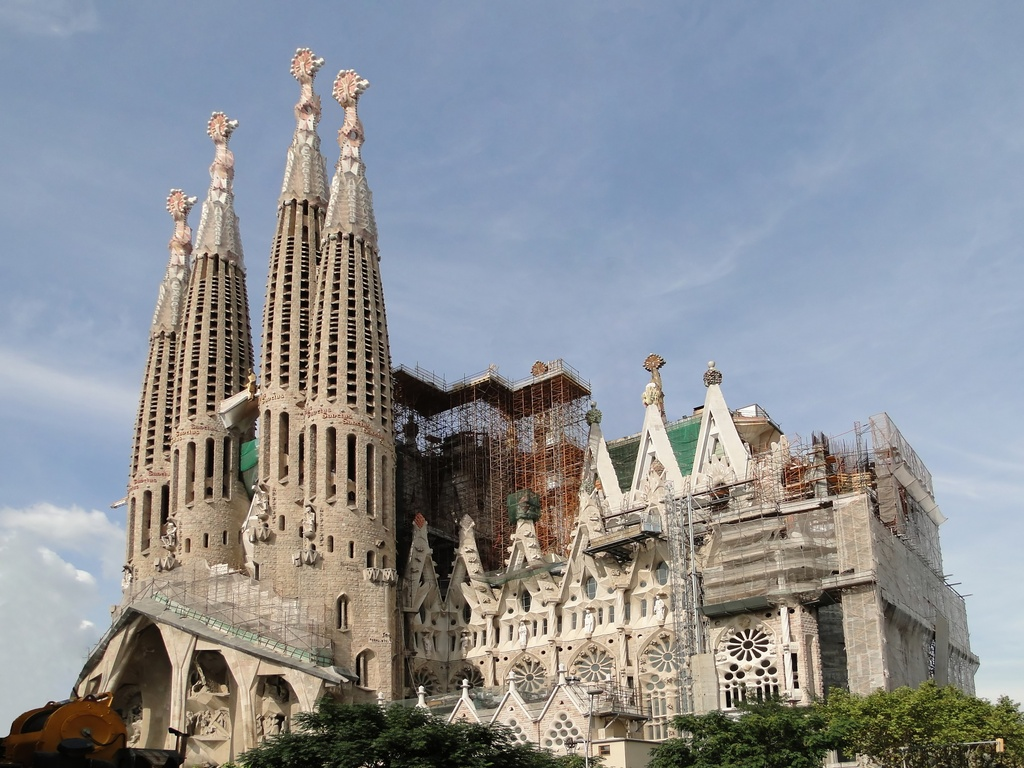 Sagrada Familia in BarcelonaSpainAntonio Gaudi\'s church 1997