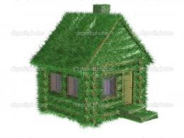 Small green house covered with a grass — Stock Photo © ISergey 641