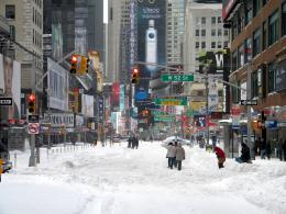 Winter Snow Storm New York City 12 26 10 Times Square Public Domain 528