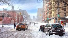 Snowfall in City Wallpaper 1417