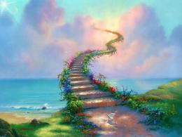 Stairway To Heaven Path Dove Clouds Abstract hd wallpaper #43694 143