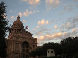 Austin Capitol building at dusk 714