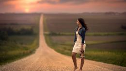 Brunette Girl Lonely HD WallpaperStylish HD Wallpapers 488