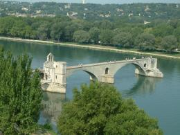Wallpaper pont davignon, bridge, avignon, france, rhone, river desktop 740