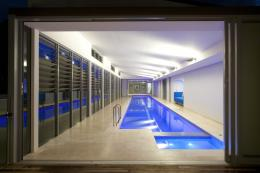 The ultimate luxury, a Sunset indoor lap pool and spa!   Sunset Pools 853