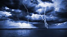 Lightening as seen from the sea, Clouds, Electrifying, Forces of 776