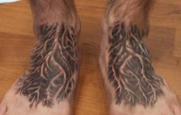 Arrows And Embers Custom Tattooing: Tree Roots Foot Tattoo 230