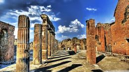 Download Monuments at Pompeii Hdr wallpaper in CityWorld wallpapers 423