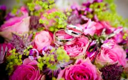 FeestdagWedding Rings Bouquet Bloem Rose Liefde Wallpaper 428