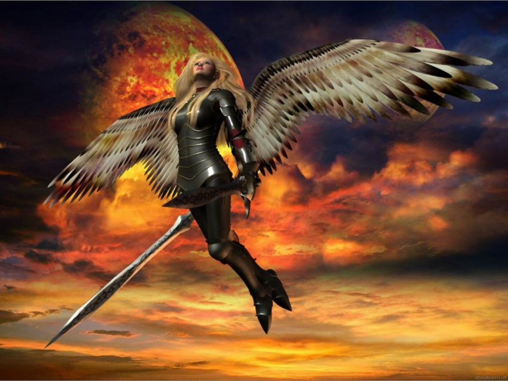 Warrior Angel Backgrounds 1267