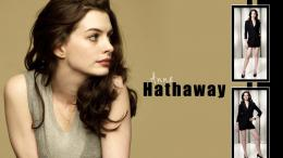 Anne Hathaway from a side wallpaper #15243 1758