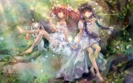Magic girls beautiful wallpaperAnime & Manga Wallpaper 1488