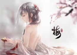 Beautiful Girl Sad Face Cherry Blossom Anime HD Wallpaper Desktop PC 1168