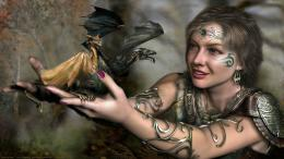 Beautiful Fantasy Girl With Dragon Tattoos HD WallpaperStylish HD 1934