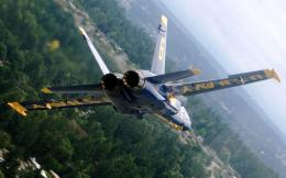 Free Widescreen Wallpapers: Blue Angel 6 In Flight 1680x1050 257