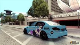 BMW M5Gochiusa Itasha for GTA San Andreas top view 640