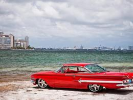 Similar wallpapers for Bright red chevy on the beach 610