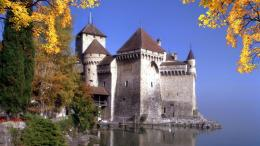 Chillon castle, Switzerland Widescreen Wallpaper#6059 156