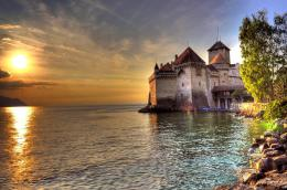 Chillon Castle, Switzerland 1551