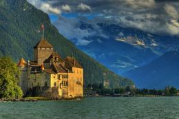 chillon castle wallpapers top view chillon castle chillon castle 407