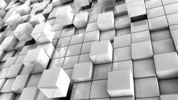 AbstractWhite Abstract Cube Cubes Geometry Wallpaper 1399