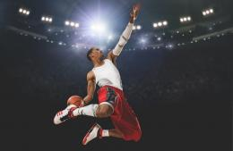 Derrick rose, basketball, player, hang, slam dunk, adidas, stadium 247