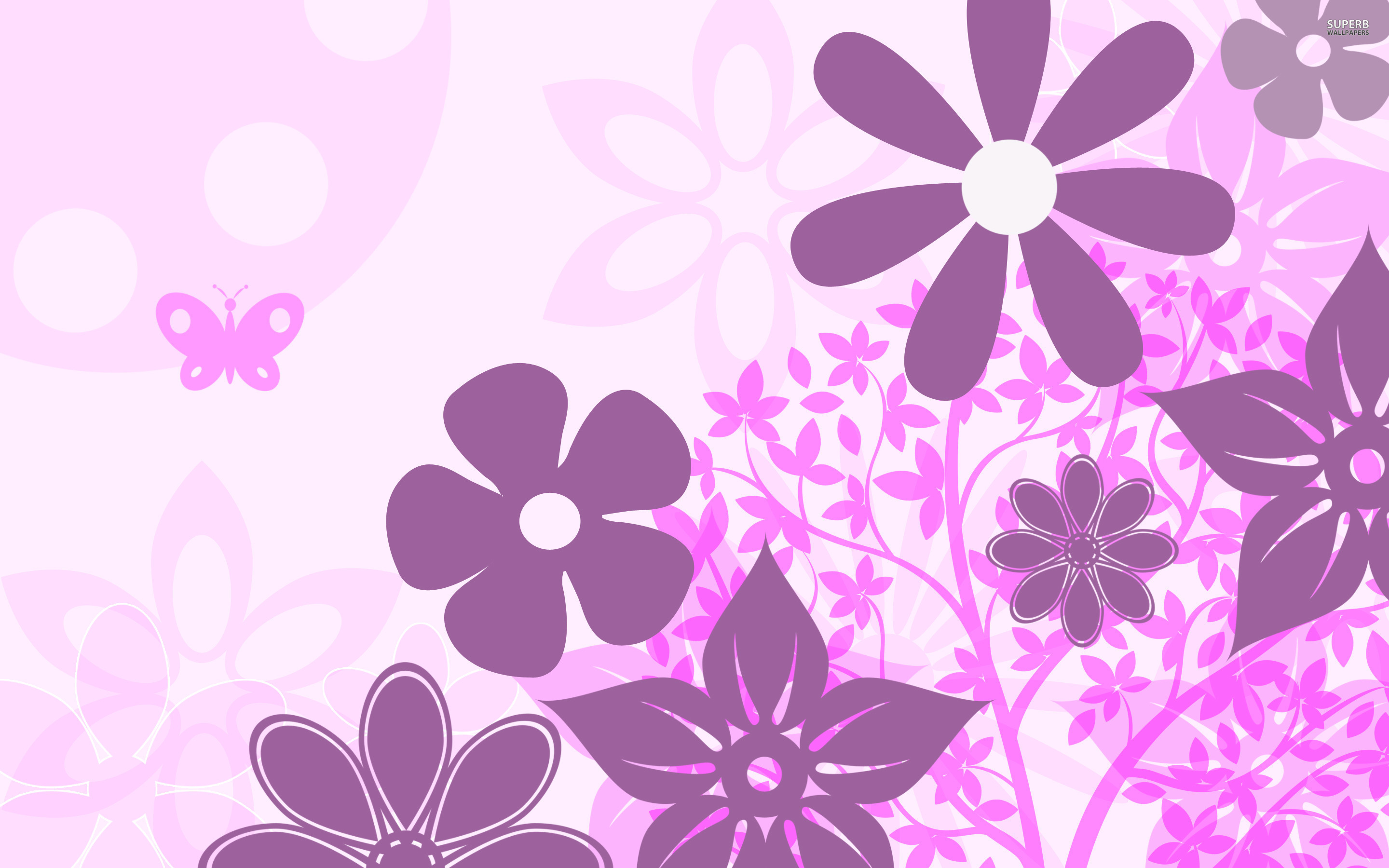 Showing Gallery For Purple Floral Pattern Wallpaper 519