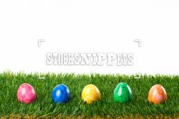 Image #10100918EasterColorful Easter Eggs in Grass 937