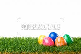 Image #10100919EasterColorful Easter Eggs in Grass 312