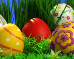 Easter Eggs in Grass HD wallpaper 1920x1080 Decorated Easter Eggs 774