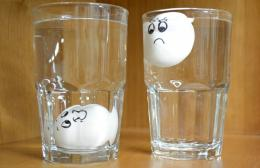 fresh egg will sink, while a bad egg will float 788